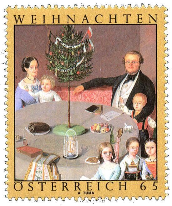 Autriche - le premier arbre de Noël à Ried (Felix Ignaz Pollinger)